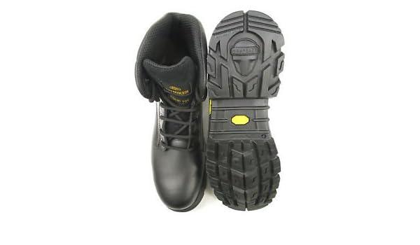 Stealther Botas de Seguridad para Motosierra Trucker Aimont Negro 9 Talla Planta Vibram: Amazon.es: Zapatos y complementos