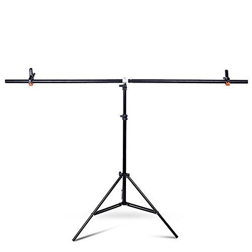 YUOCU Adjustable Portable T-shape PVC Background Photography Backdrop Support Stand System Kit (Large, 150cm x 200cm/59'' x79'') by YUOCU