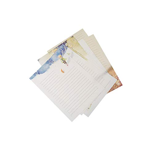 Lvcky 40Pcs Fairy Tale Stationery Writing Paper Prince Letter Papers Pad Gift Set for Blessing Greeting Card