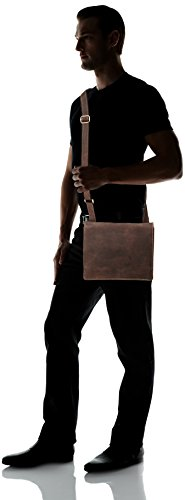 Visconti Harvard Distressed Leather Messenger Bag, Tan, One Size by Visconti (Image #5)