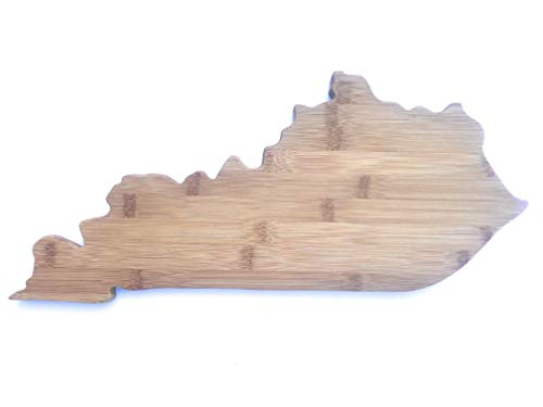 Amazing Tymes Kentucky Shaped Bamboo Cutting and Serving Board For Kitchen or Wall Decor - State of KY ()