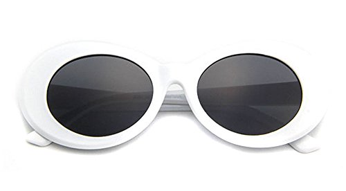 ffa6087bf0 BOLD Retro Oval MOD Thick Frame Clout Goggles Round Lens Sunglasses ...