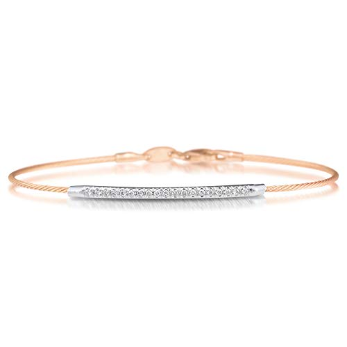 I. Reiss 14K Rose Gold 0.14ct TDW Diamond Accent Wire ID ()