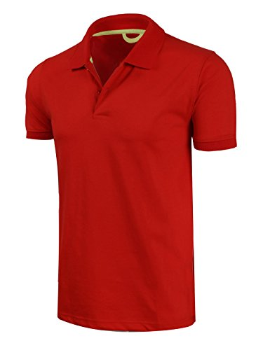 Marq 75 Slim Fit Jersey Polo Shirt - Red, ()