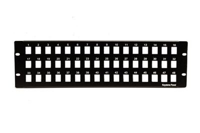 ECore Cables 15-175-048 Keystone Blank Patch Panel - 48 Port - 3 RU