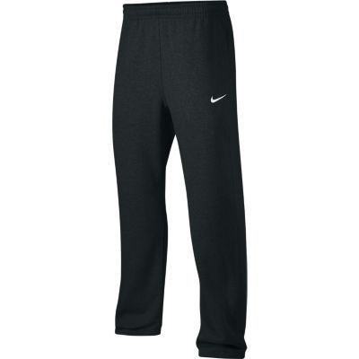 Nike Club Swoosh Men's Fleece Sweatpants Pants Classic Fit, X-Large - Black/White