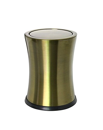 CSQ Stainless Steel Trash Can, Shake Cover Trash Can Metal Flip Cover Trash Can Creative Household Bathroom Bedroom Storage Bucket 2230CM Indoor by Outdoor trash can (Image #9)