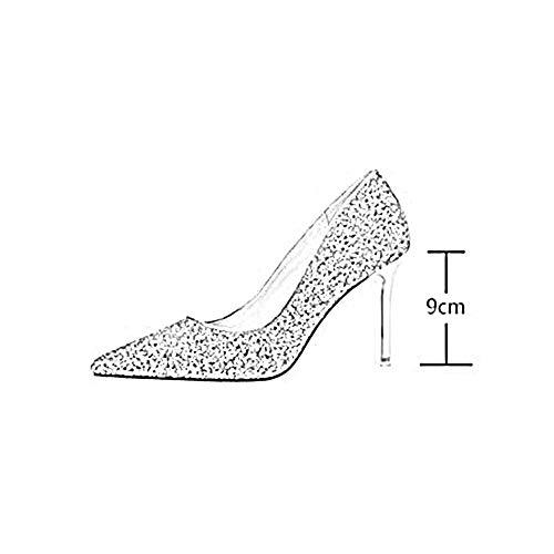 Paillettes de 8 Matériaux cn39 Heels 9622 Or Couleurs Taille Tyd Eu39 Couleur Élégantes Femme 5 l Argent Qualité Chaussures 9cm Escarpins High Sexy Mariage Haute Stiletto uk6 XxqwY4vIC