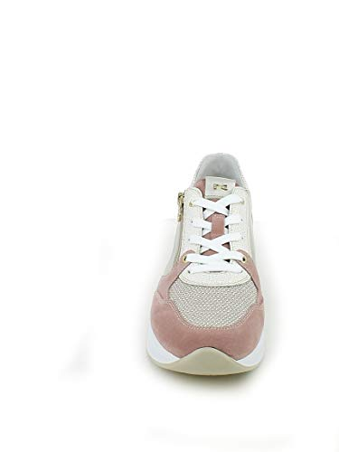 Oro Rosa Laminato E sneaker Camoscio Nerogiardini In zqOF8ZT