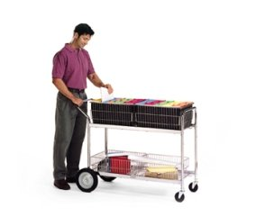 (Charnstrom Long Wire Basket Mail Cart (M280))