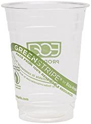 Eco-Products EP-CC16-GS GreenStripe Renewable & Compostable Cold Cups, 16 oz, (Case of 1