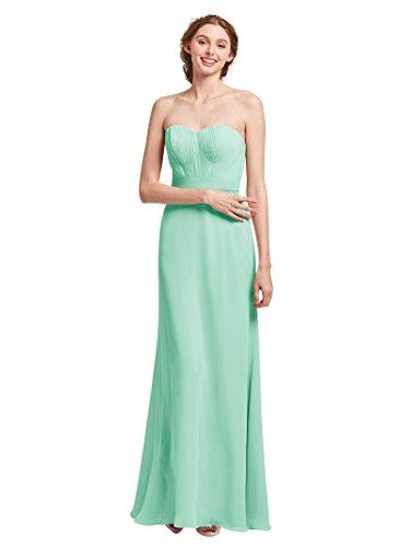 Mint Green Dress for Alicepub Sweetheart Dresses Strapless Chiffon Party Bridesmaid Evening Maxi Women xT7PZqgTw