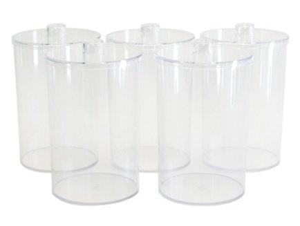 Clear Plastic Sundry Jars - Unlabled