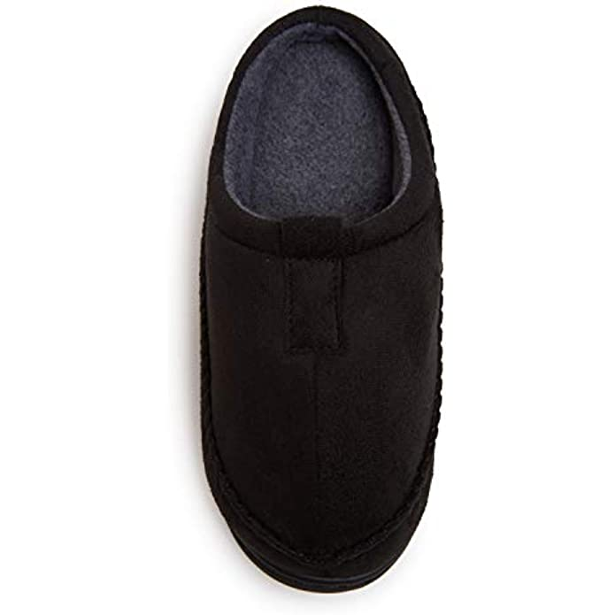 Skysole Boys Microsuede Clog Slipper with Rugged Outsole