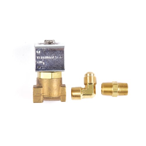 No Pressure Port (Trident Marine 1300-7708.2-KIT, Low-Pressure LPG, 12 VDC Brass Solenoid Valve with 1/4