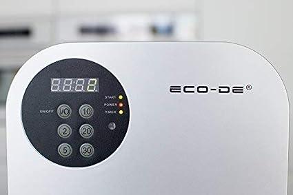 ECO-DE Generador de Ozono portátil, Mando a Distancia, programable ...