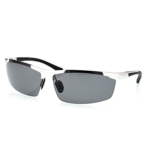 de TIANLIANG04 de polarizadas rojo aleación magnesio protección en mens guía aluminio Gafas hombres UV400 de de Argento gafas Moda rSx6nXS