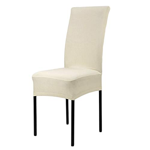 Stretch Short Washable Dining Room Stool Chair Cover Slipcover Cream
