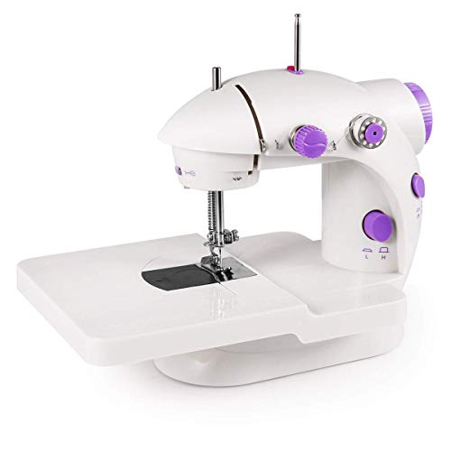 Sewing Machine, 2-Speed Adjustable Compact and Lightweight Sewing Tool, Low Speed/high Speed, Double line, Foot Pedal, Suitable for Family and Beginners