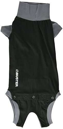 Kruuse Buster Body Suit for Dogs, Black/Grey, 19
