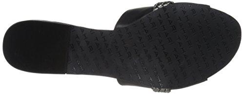 Tahari Women's Ta-Amorie Slide Sandal, Black, US Black/Pewter