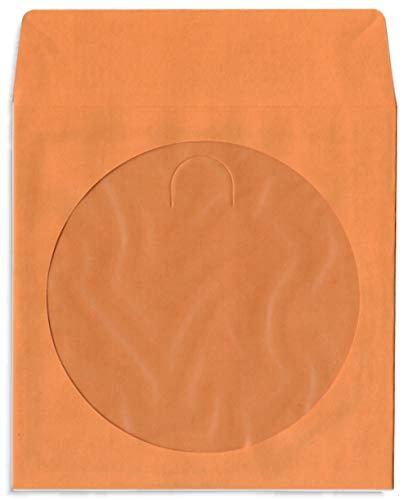 200-Pak Orange Colored Paper CD/DVD Sleeves with Window & Flap ()