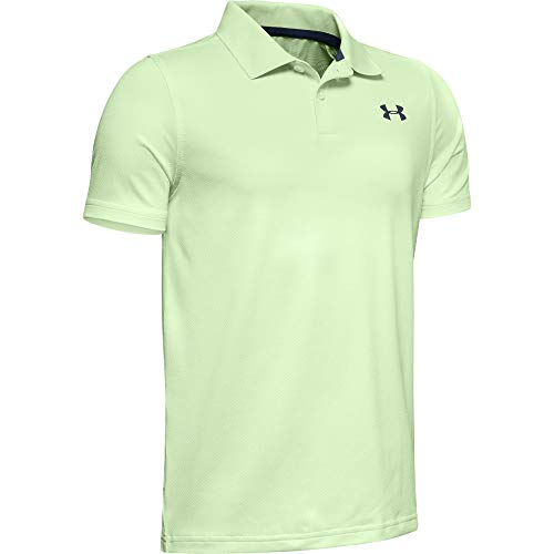 Boys Golf Shirt Top - Under Armour boys Performance 2.0 Golf Polo, Phosphor Green (369)/Wire, Youth X-Small