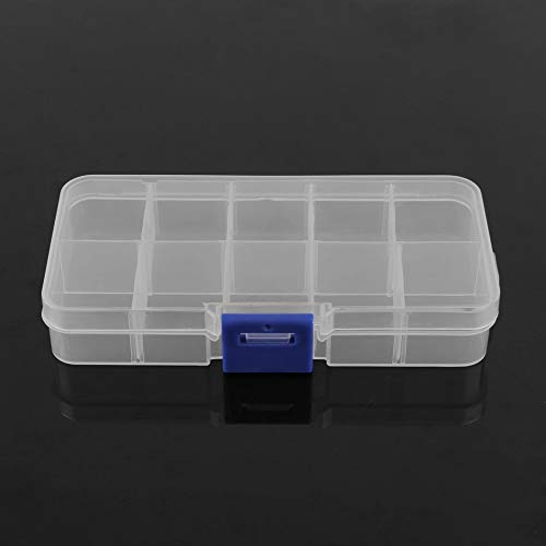 Plastic 10 Slots Adjustable Jewelry Storage Box Case Craft Organizer Beads Home Bedroom Organizer Square Type Box