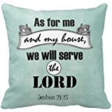 As For Me And My House Bible Verse Pillow Case