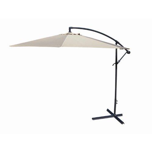 International Concepts Offset Market Umbrella, 10-Feet, Natural
