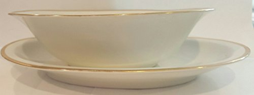 Trim Oval Bowl - Austria Queen China Gold Trim Oval Serving Bowl and Platter