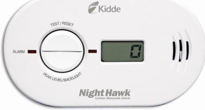 Kidde KN-COPP-B-LS Night Hawk Carbon Monoxide Alarm, Battery Operated with Digital Display