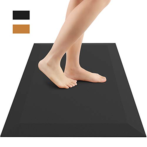 Anti Fatigue Mat, Henscoqi Comfort Floor Kitchen Rug with Standing Desk, Non-slip Waterproof Ergonomic Cushion Pad for Office, Home and ()