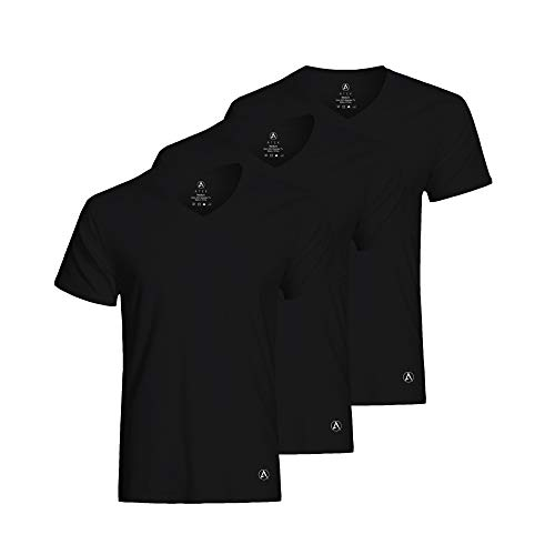 ATEK Men's Stay Tucked Cooling Undershirts | Moisture Wicking Sweatproof Breathable V Neck T Shirts, Extra Long