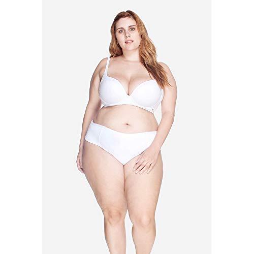 Calcinha Laterais Largas Plus Size Branco-48