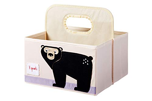 3 Sprouts Baby Diaper Caddy - Organizer Basket for Nursery, Bear