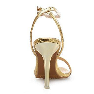 Stiletto Cuero Oro Vestido PU club Sandalias Boda Zapatos Noche LvYuan y Tacón Fiesta Plata Gold del Mujer nBw17SWEZ