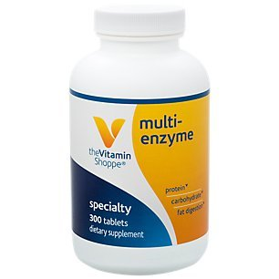 Multi Enzyme Helps Support The Digestion Absorption of Protein, Carbs Fat (300 Tablets) by The Vitamin Shoppe