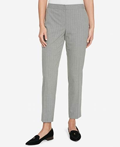 (Tommy Hilfiger Womens Pinstriped Suit Separate Ankle Pants Gray 0)