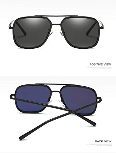 sol Gafas Aleacion de de Multicolor UV Plaza 100 Polarizado Mens Proteccion Rectangular Hombres Gafas sol wvqqW5I8a
