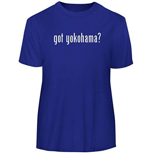 One Legging it Around got Yokohama? - Men's Funny Soft Adult Tee T-Shirt, Blue, -