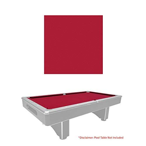 Pool Stain Red (Harvil Pre-Cut Red Pool Table Felt Cloth for 8-Foot Billiard Tables Stain Resistant, 22 Ounces)