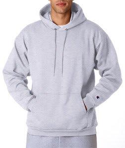 Champion Adult 50/50 Pullover Hooded Sweatshirt, Ash, XL