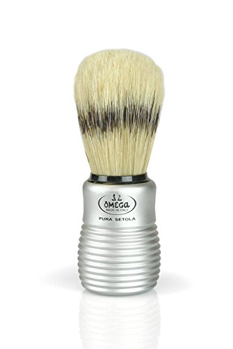 Pre de Provence Men's Boar Bristle Shave Brush with Aluminum Handle for Quick Lather Boar Shaving Brush