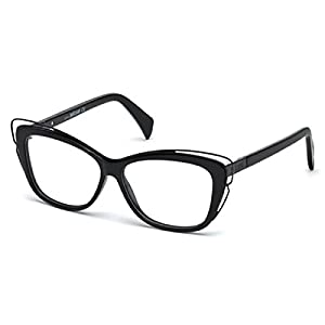 Just Cavalli - JC0704, Cat Eye, acetate/metal, women, BLACK(001), 55/12/140