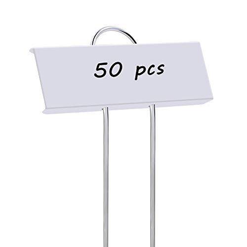STARTOSTAR 50-Pack Metal Plant Labels, 10.6