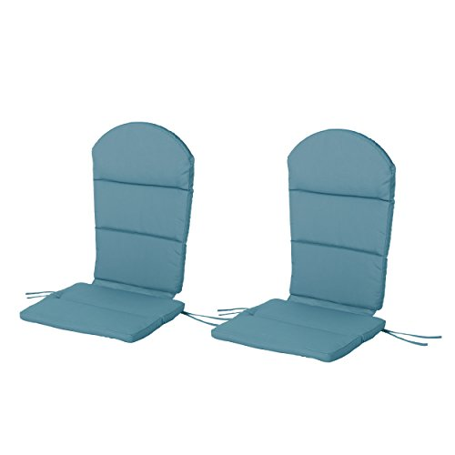 Great Deal Furniture Terry Outdoor Adirondack Chair Cushion Set of 2 , Dark Teal
