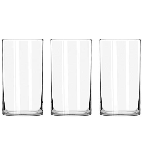 STARSIDE 3 Pack Clear Glass Cylinder Vases, Table Flowers Vase,for Wedding Decrations and Formal Dinners (8 Inch)
