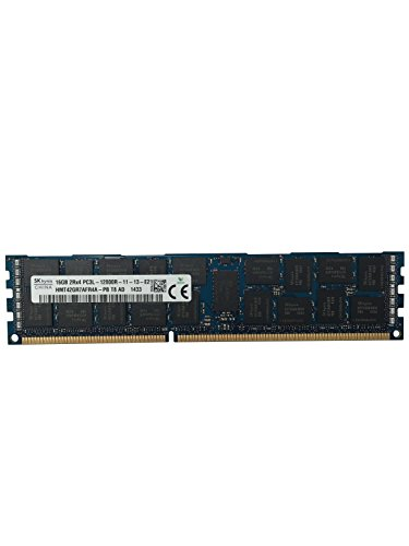 Sun Oracle Certified Hynix Original 16GB (1x16GB) PC3-12800 1600MHz DDR3 ECC Registered CL11 DIMM 2Rx4 1.35v Server Memory Upgrade HMT42GR7AFR4A-PB ()