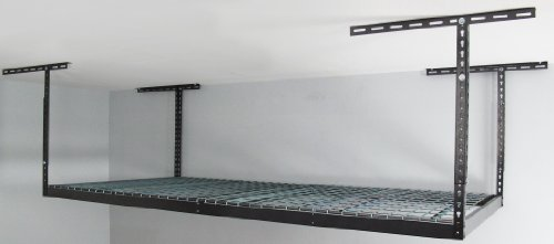 Monsterrax - 4x8 Overhead Garage Storage Rack Heavy Duty (24''-45'' Ceiling Drop) - Hammertone by MonsterRax